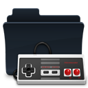 Folder, Game, badged, gaming DarkSlateGray icon