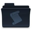 script, Folder DarkSlateGray icon