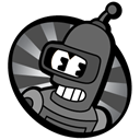 Bender, steamboat Black icon
