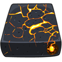 drive, Firewire, volcanic Icon