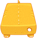 External, drive Goldenrod icon