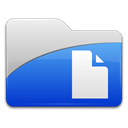 File, document, paper RoyalBlue icon