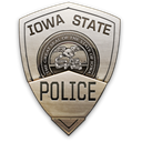 iowa, police, state Black icon