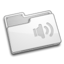 Folder, sound, voice Gainsboro icon