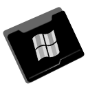 Folder, window Black icon