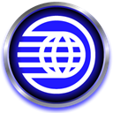 spaceship, world, planet, globe, earth Blue icon