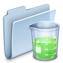 badged, Folder, experiment Icon