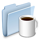 food, Folder, Coffee, badged LightSteelBlue icon