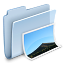 photo, badged, Folder, pic, image, picture LightSteelBlue icon