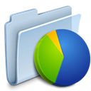 badged, graph, Folder, chart LightSteelBlue icon