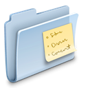 Folder, Note, badged LightSteelBlue icon