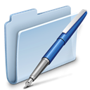 Folder, badged, vector LightSteelBlue icon