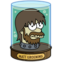 groening, Futurama, matt DarkOliveGreen icon