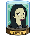 head, lucy, liu Black icon