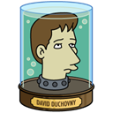 david, head, duchovny Black icon