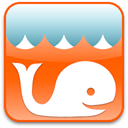 whale OrangeRed icon