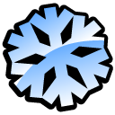 smoothicon, snowflake Black icon