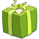 present, shiny, green, gift OliveDrab icon