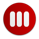 Library, sidebar DarkRed icon