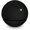 Computer, green Black icon