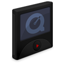 quicktime, player Black icon