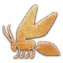 embossed, Bee Black icon
