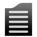File, Text, document Black icon