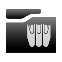 libraryfolder Black icon