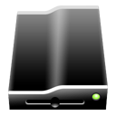 removeabledrive Black icon