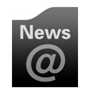 News Black icon