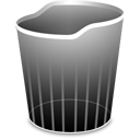 Trashempty Black icon