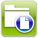 document, paper, File YellowGreen icon