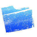 Blue, Folder Black icon