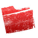 Folder, red Crimson icon