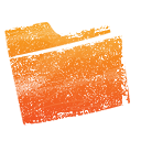 Orange, Folder Chocolate icon
