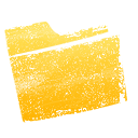 yellow, Folder Gold icon
