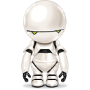 Android, marvin, paranoid Black icon