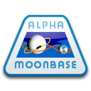 moonbase, Patch, Alpha Black icon