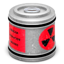 nuclear, waste, Canister DarkGray icon