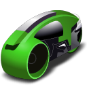 lightcycle, green ForestGreen icon