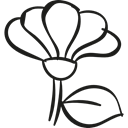 Flower, Leaf, garden, gardening, nature, Flower Petals, petals Black icon