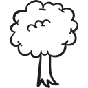 garden, Forest, nature, gardening, Park, Tree Black icon