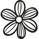 Flower, garden, Flower Petals, nature, gardening Black icon