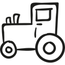 Automobile, tractor, vehicle, Farm, transport, engine, gardening Black icon