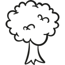 Tree, garden, nature, woods, gardening, Forest Black icon