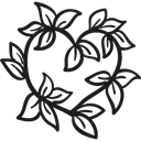 lovely, Heart, Heart Shape, nature, lover, leaves, Leaf Black icon