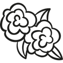 flowers, nature, Flower, Flower Design, Flower Bud Black icon