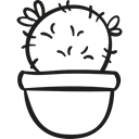 nature, dry, plant, pot, Cactus, Desert Black icon