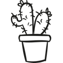 dry, plant, pot, Cactus, nature, Desert Black icon