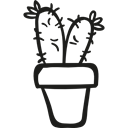 dry, pot, nature, Desert, plant, Cactus Black icon